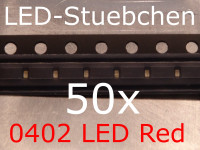 50x 0402 LED Rot