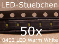 50x 0402 LED Warmweiss