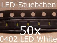 50x 0402 LED Kaltweiss
