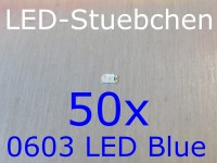 50x 0603 LED Blau