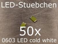 50x 0603 LED Kaltweiss