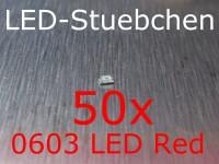 50x 0603 LED Rot