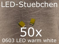 50x 0603 LED Warmweiss