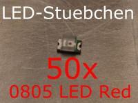 50x 0805 LED Rot