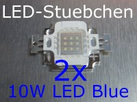 2x 10W High-Power LED Blau 1050mA