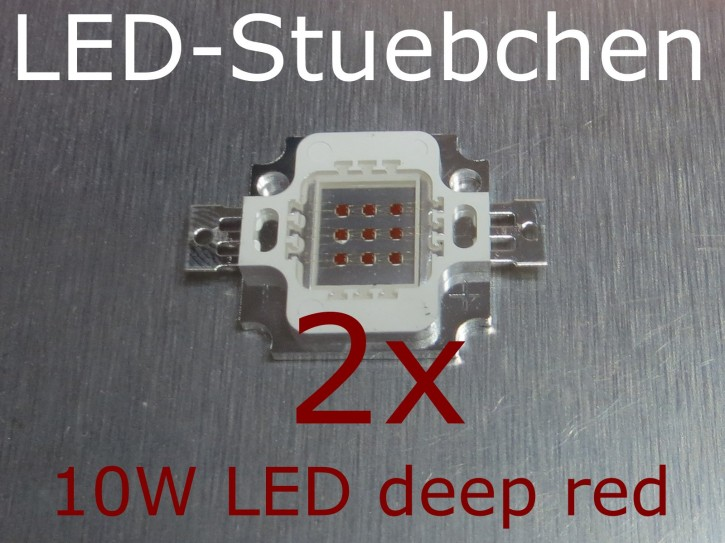 2x 10W High-Power LED Tiefrot / deep red 660nm
