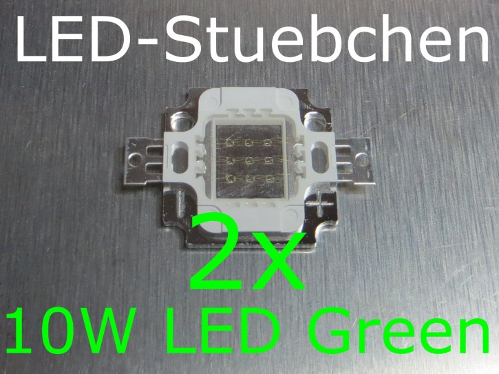 2x 10W High-Power LED Grün 1050mA