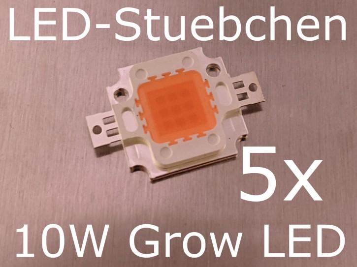5x 10W LED Pflanzenleuchte, Grow Light