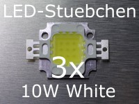 3x 10W High-Power LED Weiss