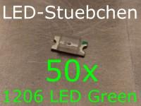 50x 1206 LED Grün