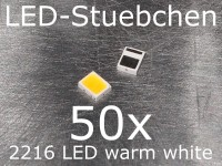 50x 2216 LED Warmweiss