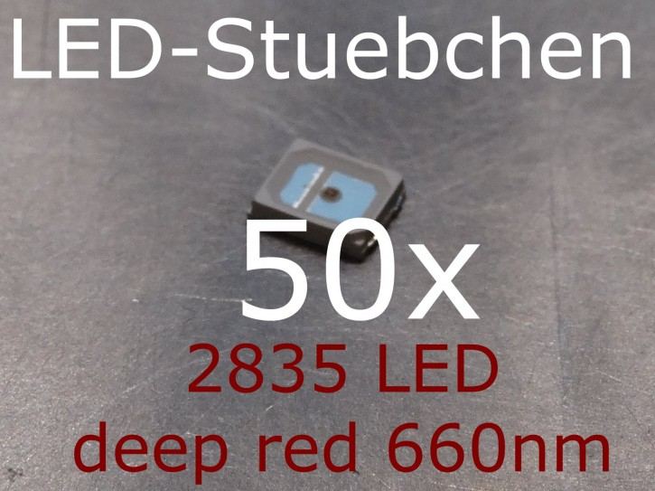 50x 2835 LED Tiefrot / deep red 660nm, grow LED
