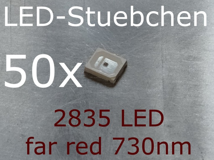 50x 2835 LED Infrarot / far red 730nm, grow LED