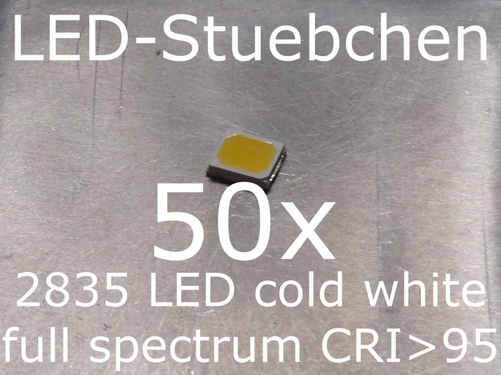 50x 2835 Full Spectrum LED cold white, CRI>95, full spectrum, grow light