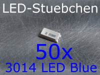 50x 3014 LED Blau