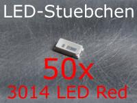 50x 3014 LED Rot