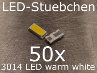50x 3014 LED Warmweiss