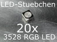 20x 3528 RGB SMD LED PLCC4 Black Face