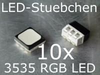 10x 3535 RGB SMD LED Black Face Diffused, Schwarz