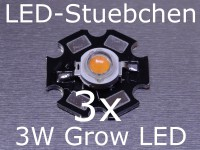 3x 3W LED Pflanzenleuchte, Grow Light