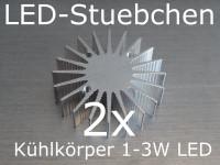 2x LED Kühlkörper 36mm für 1-3W LEDs