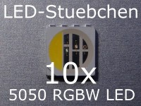 10x 5050 RGBW LED 4-Chip Neutralweiss