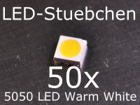 50x 5050 Warmweiss SMD LED PLCC6 3-Chip