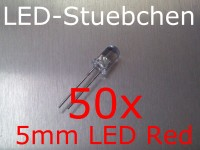 50x 5mm LED Rot