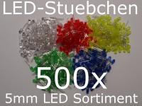 5mm LED Sortiment 5x 100 Stück = 500 Stück