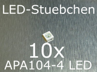 10x APA104-4 - 5050 RGB SMD LED mit integriertem Controller, wie WS2812B