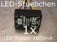 LED DC/DC Konstantstromquelle 1000mA, LDD-1000 HW