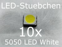 10x 5050 Kaltweiss SMD LED PLCC6 3-Chip