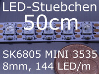 SK6805 MINI 3535 RGB Stripe, 144 LED/m, 8mm