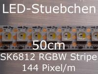 SK6812 RGBW(N) Stripe 0,5m - LEDs mit integriertem WS2811 controller, 144 LED/m