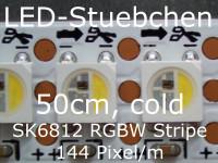 SK6812 RGBW(C) Stripe 0,5m - LEDs mit integriertem WS2811 controller, 144 LED/m