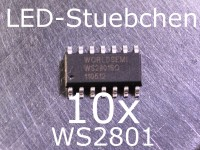 10x WS2801 LED-Treiber IC