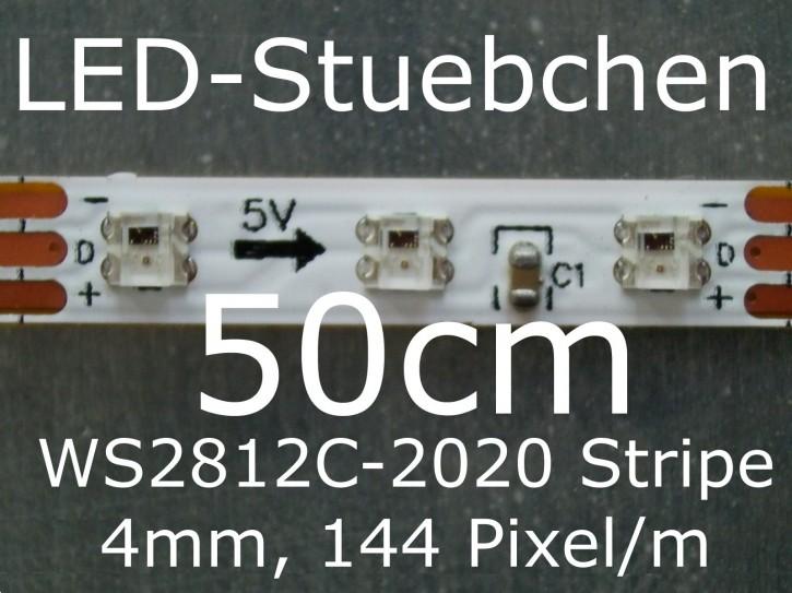 WS2812C-2020 RGB Stripe, 4mm, 144 LED/m