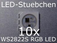 10x WS2822S - 5050 DMX RGB LED Controller