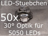 50x LED Linse/Optik 30° für 5050 LEDs (z.B. WS2812B)