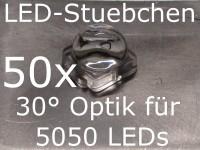 50x LED Linse/Optik 30° für 5050 LEDs (z.B. WS2812B)