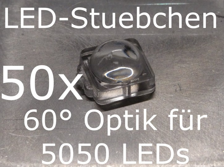 50x LED Linse/Optik 60° für 5050 LEDs (z.B. WS2812B)