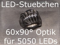 50x LED Linse/Optik 60x90° für 5050 LEDs (z.B. WS2812B)