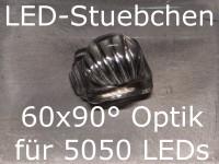 50x LED Linse/Optik 60x90° für 5050 LEDs (z.B. WS2812B)