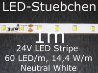 LED Stripe neutralweiss mit 60 LED/m, 2835, 24V, Konstantstromtreiber, KSQ