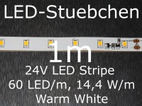 LED Stripe warmweiss mit 60 LED/m, 2835, 24V, Konstantstromtreiber, KSQ