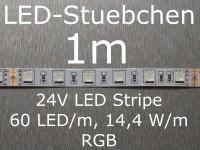 LED Stripe RGB mit 60 LED/m, 5050, 24V, 14,4 W/m