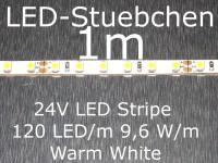 LED Stripe warmweiss mit 120 LED/m, 3528, 24V, nur 5mm breit