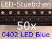 50x 0402 LED Blau