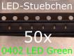 50x 0402 LED Grün