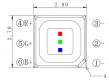50x 2727 RGB SMD LED Black